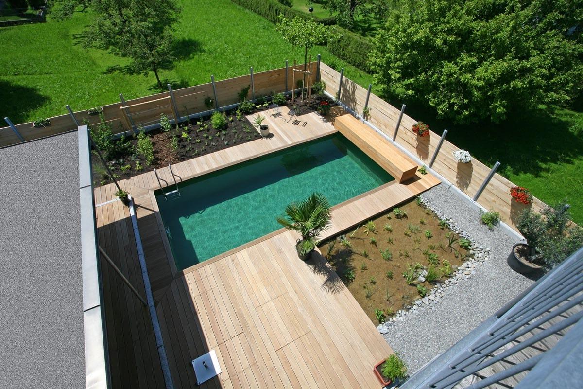 Luxus Pool Garten Holzboden