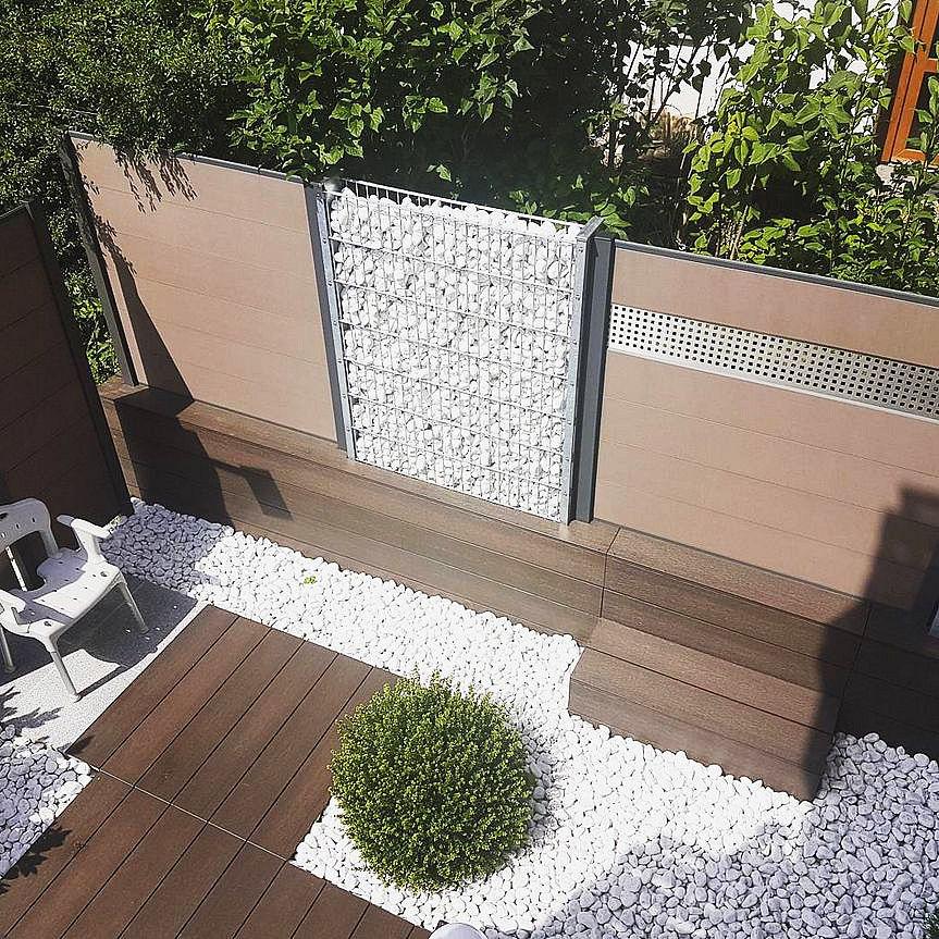 Garten Sichtschutz Zaun Gabionen