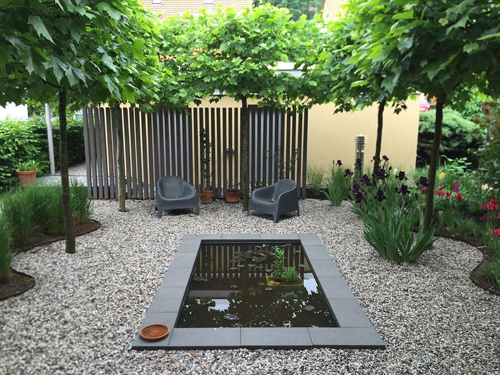 Gartengestaltung modern Gartenteich anlegen