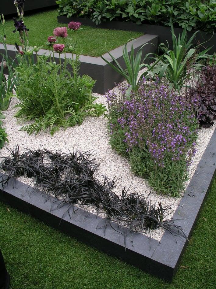 Garten Blumenbeete geometrische Formen