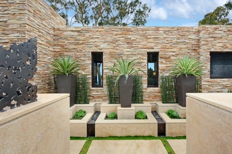Garten Sichtschutz Mauer abwechslungsreiche Landschaft