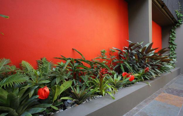Garten attraktiv Akzentwand