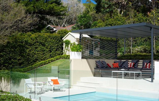 Garten mit Pool herrlicher Look