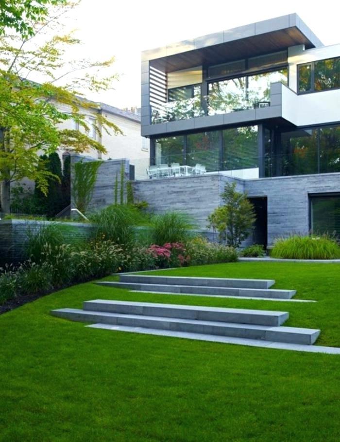 Gartengestaltung modern geometrische Formen schick