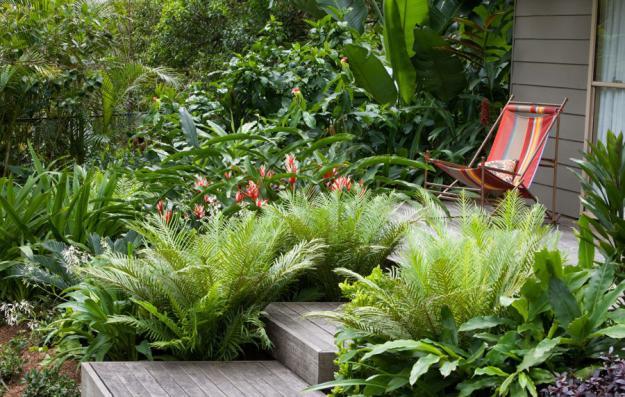 Gartengestaltung modern Vielfalt an Pflanzenarten