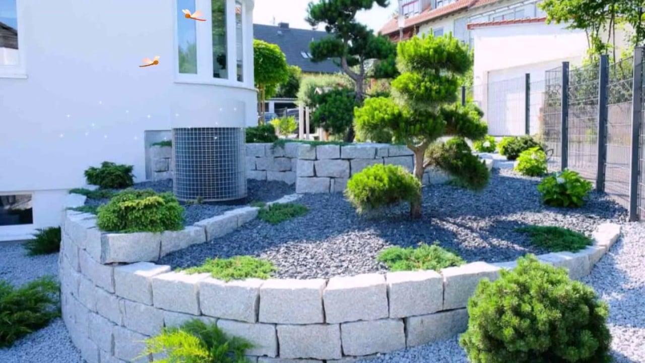 Gartengestaltung modern die einzelnen Bereiche voneinander trennen