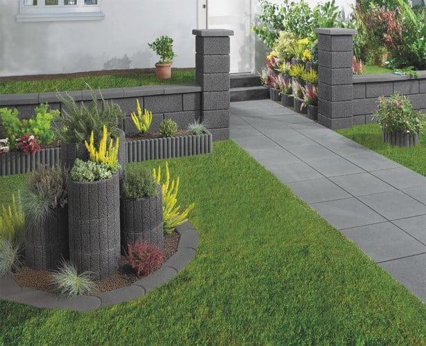 Gartengestaltung modern Gartenwege einplanen