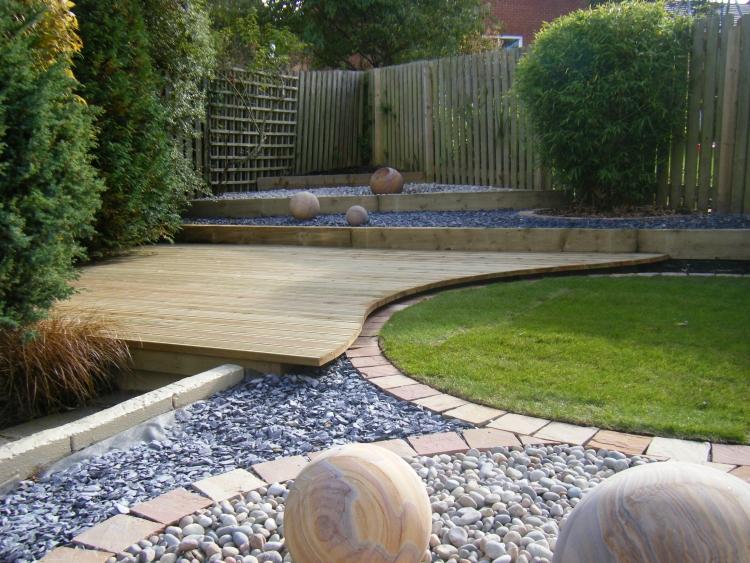 Gartengestaltung modern abwechslungsreiche Landschaft