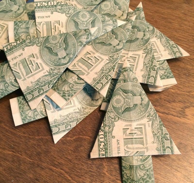Geldgeschenke originell verpacken Tannenbaum