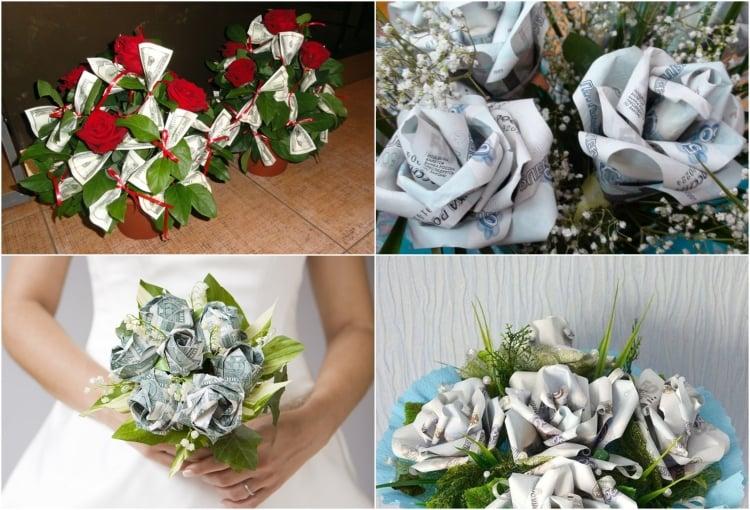 faszinierende Rosen aus Geldscheinen falten