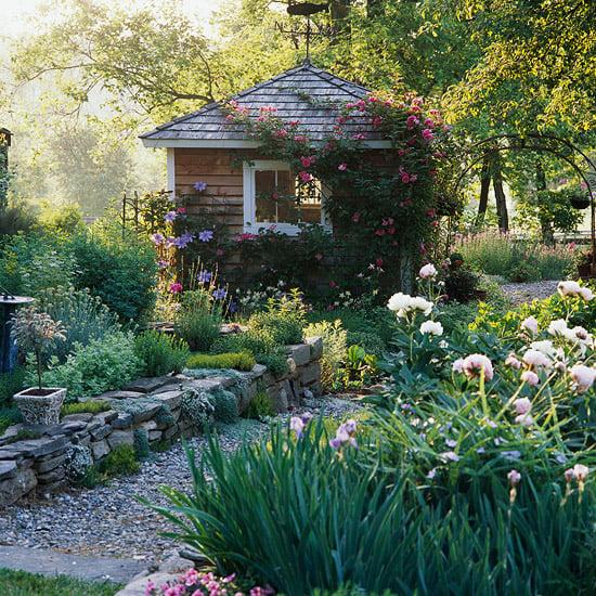 kleines Treibhaus Garten herrlicher Look