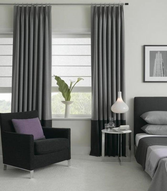 Vorhänge in Grau Einrichtung in Neutralfarben