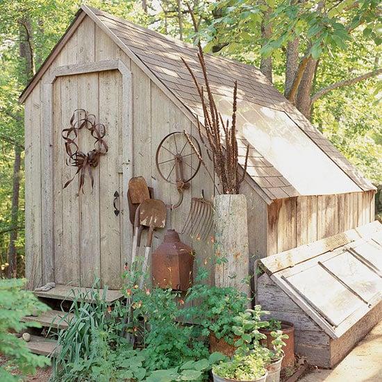 Treibhaus Holz Vintage Look keine Fenster