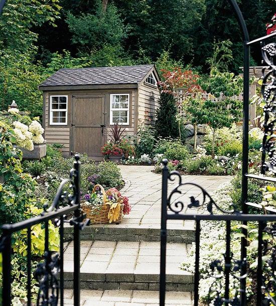 Häuschen im Garten als Treibhaus verwenden