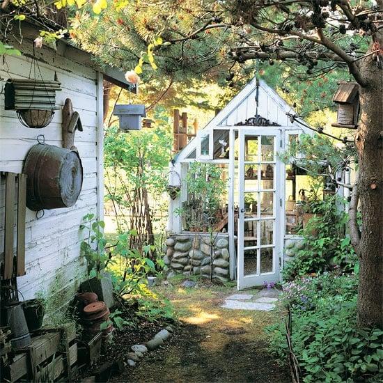 kleines Gartenhäuschen Treibhaus