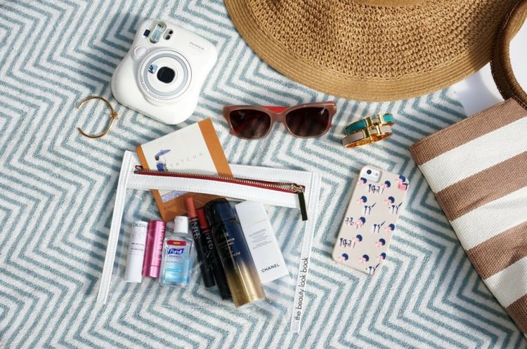 Strandtasche Kosmetik kleine Tasche transparent