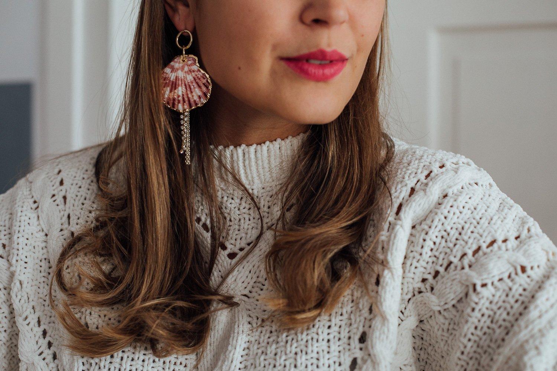 Ohrringe mit Muscheln tragen 2019 modern