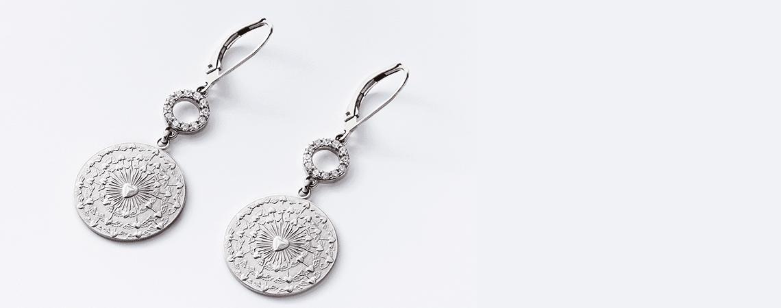 Ohrringe Münzen Imitation herrlicher Look