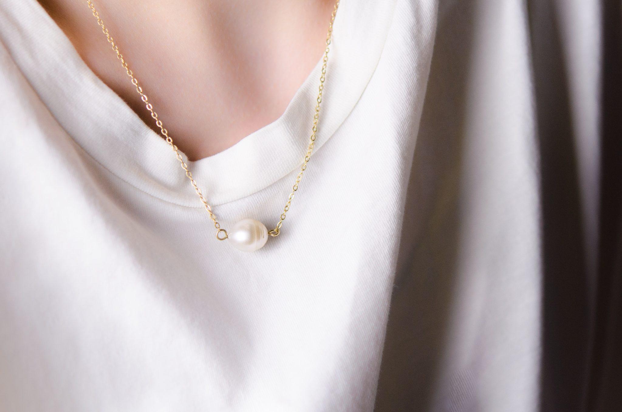 Halskette Perle minimalistisch wirklich elegant
