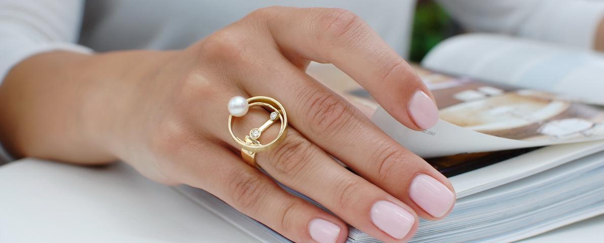 Perlenschmuck Ring super elgent