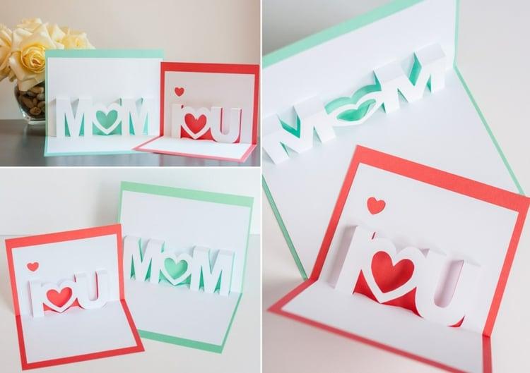 Pap-up Grußkarten zum Muttertag