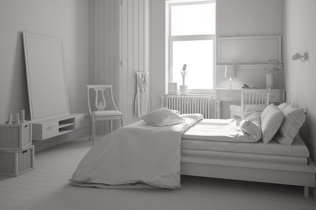 Schlafzimmer streichen in Neutralfarben Weiß beruhigend