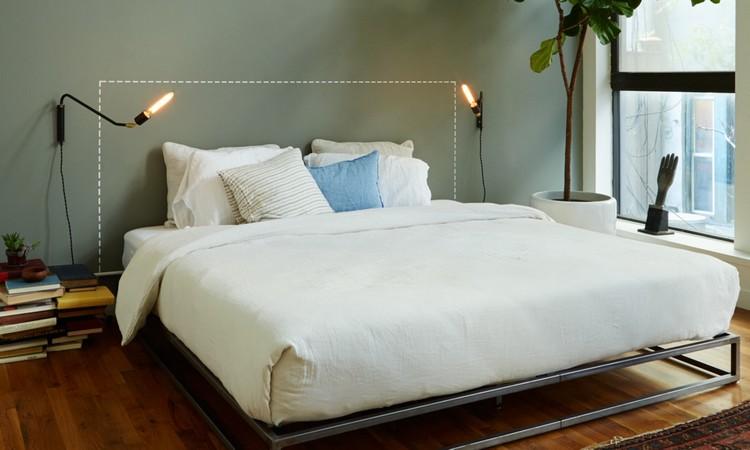 das Bett richtig positionieren Schlafzimmer
