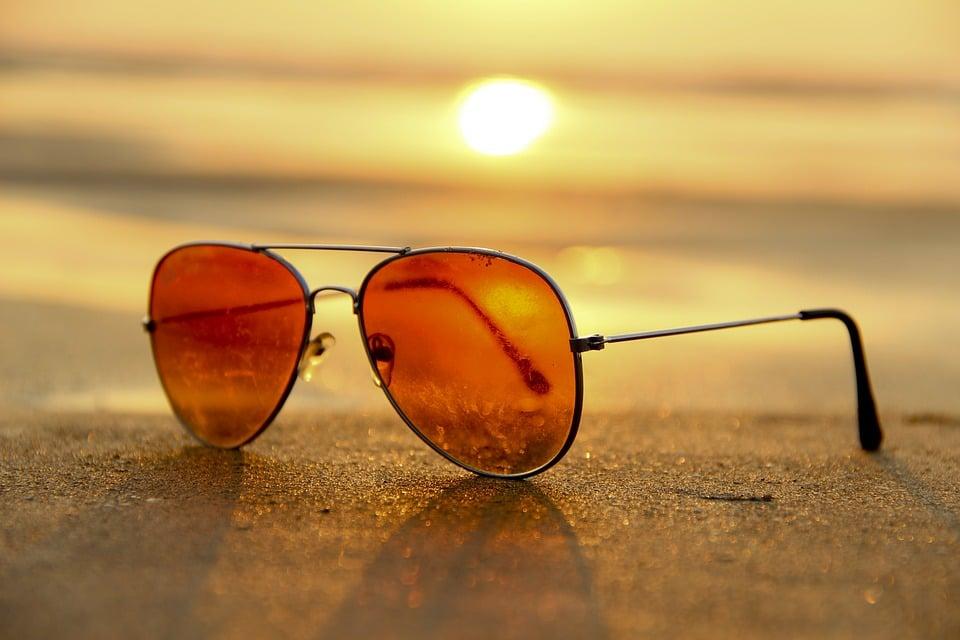 Sonnenbrillen Strand unentbehrlich