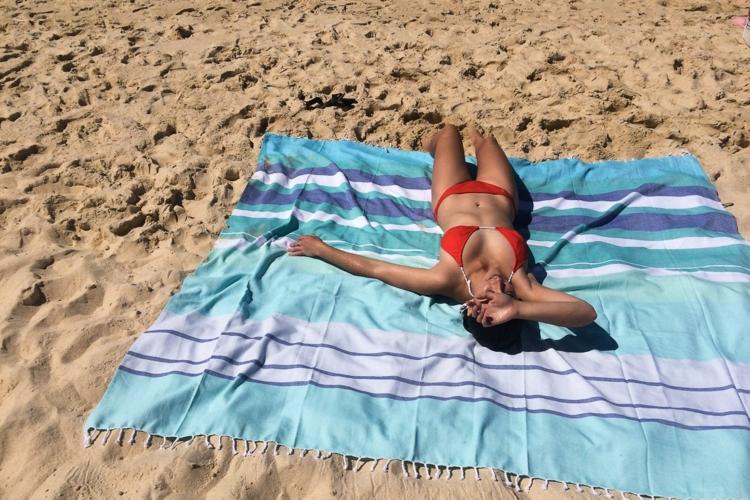 Strandtasche große Decke mit sich nehmen