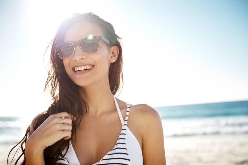 Sonnenbrillen Augenschutz Strand
