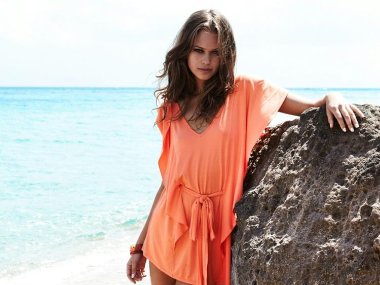 Strandtasche Kleidung Tunika orange