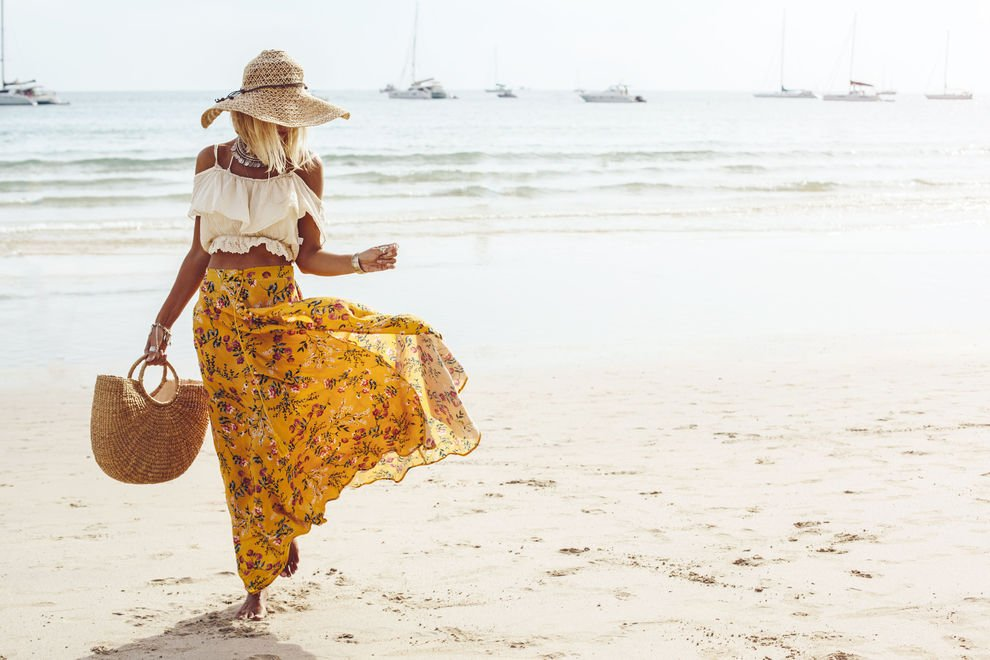 Strandtasche stilvoll Frau Meer