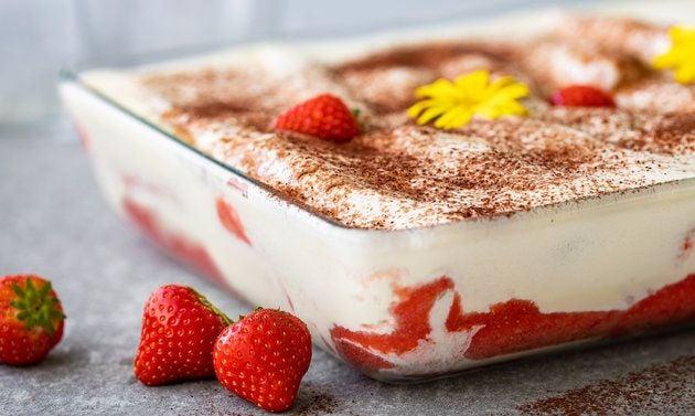 Erdbeer-Tiramisu selber machen Dessert Sommer