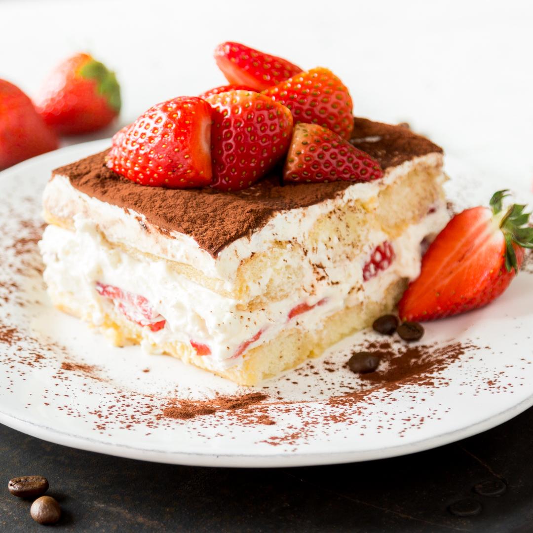 Erdbeer-Tiramisu servieren Vorschläge