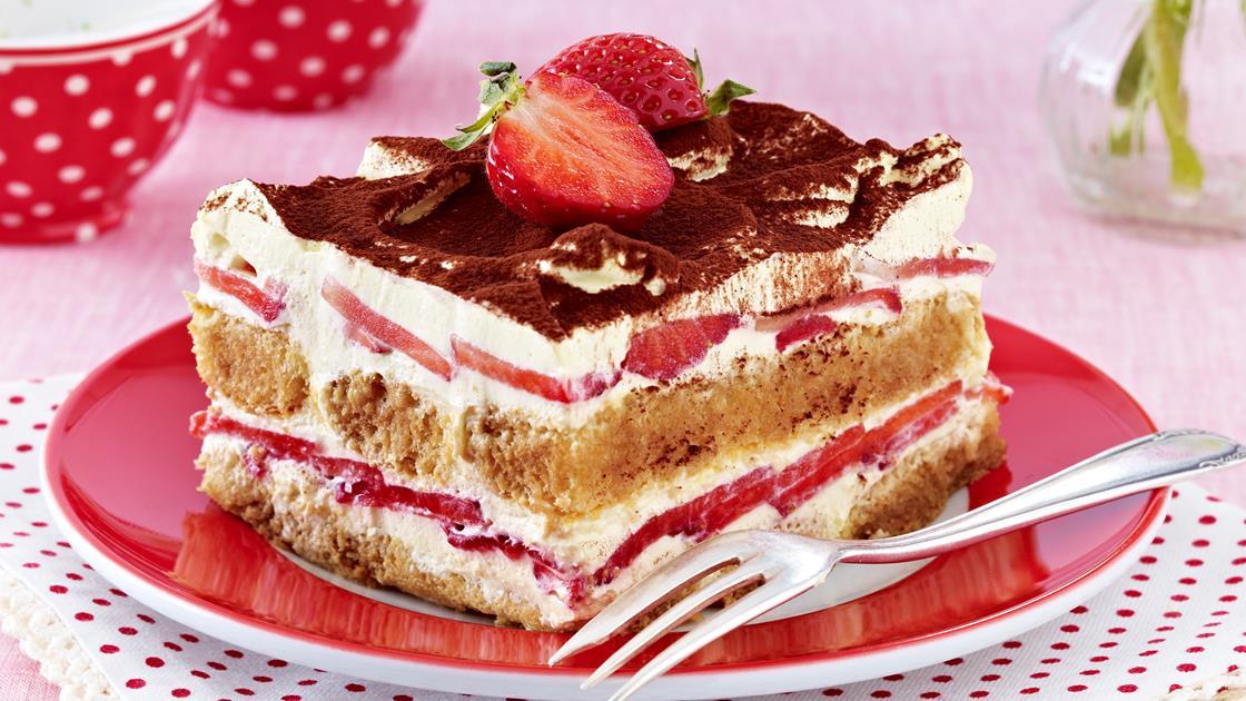 Erdbeer-Tiramisu zubereiten super schmackhaft