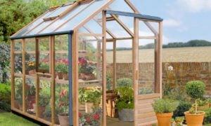 Gewächshaus selber bauen für Blumen