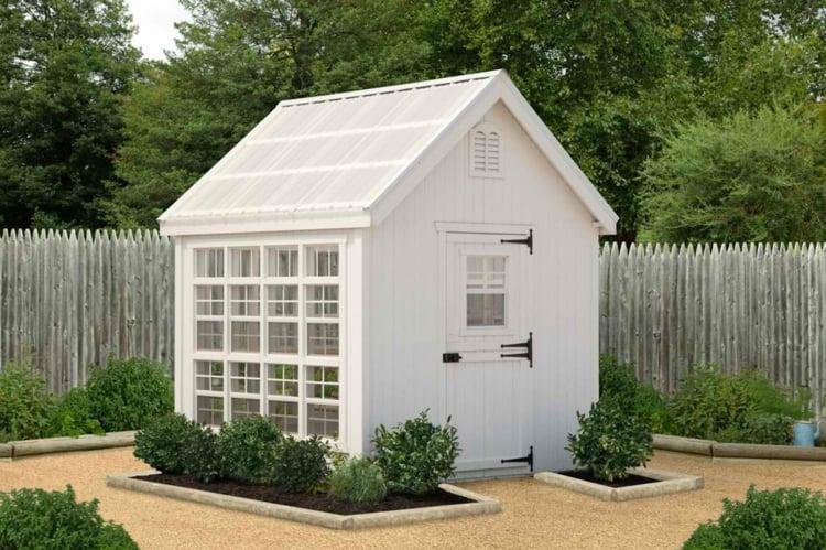 Gewächshaus selber bauen klein Holz Garten