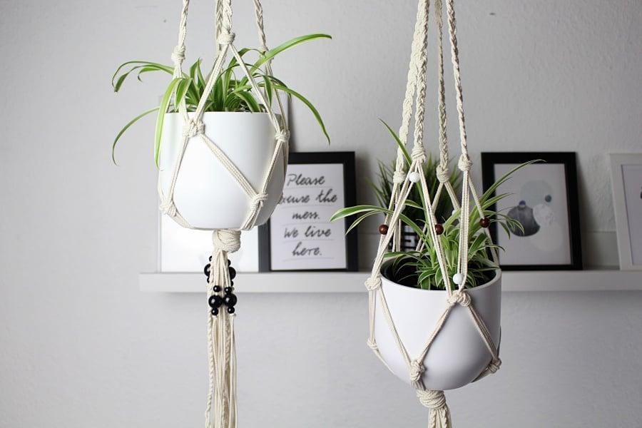 Makramee Blumenampel basteln tolle Ideen DIY