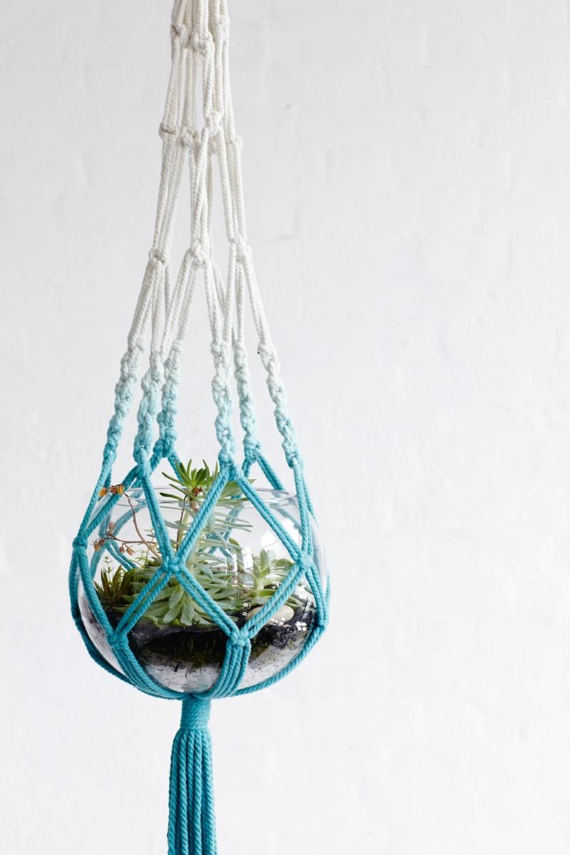 Blumenampel modern Ombre Effekt