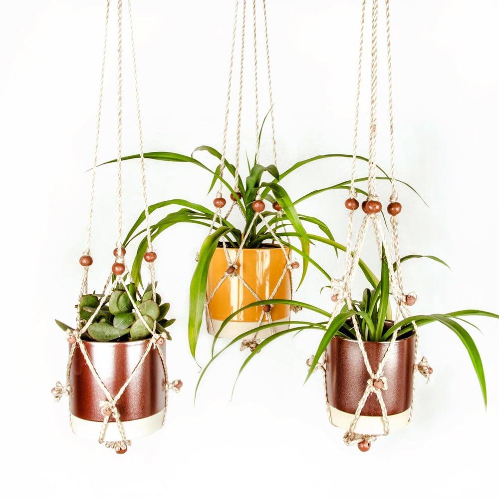 kleine Pflanzengefäße aufhängen Deko