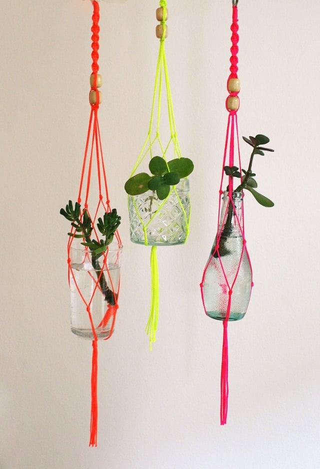 Blumenvasen aufhängen tolle Dekoidee