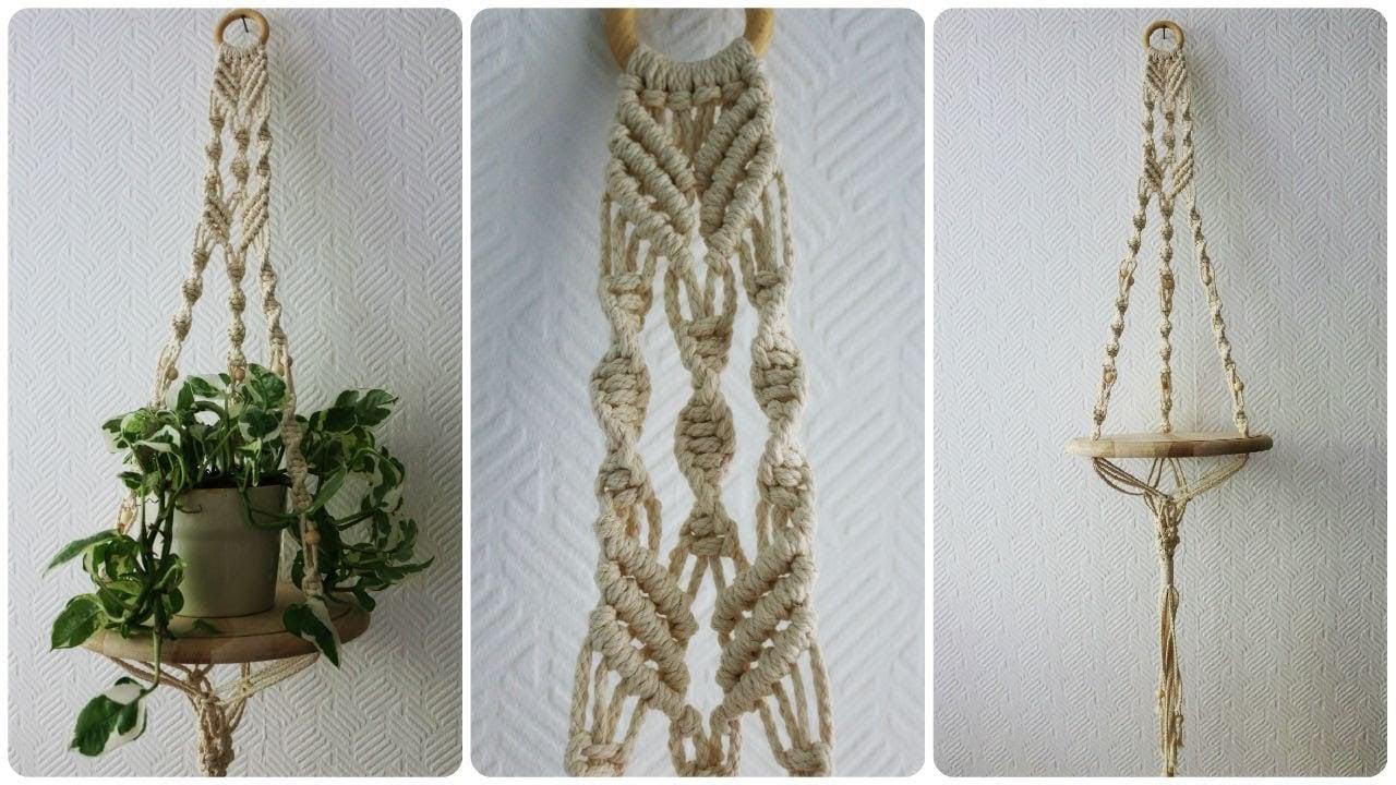 Blumenampel Makramee geflochten herrlicher Look