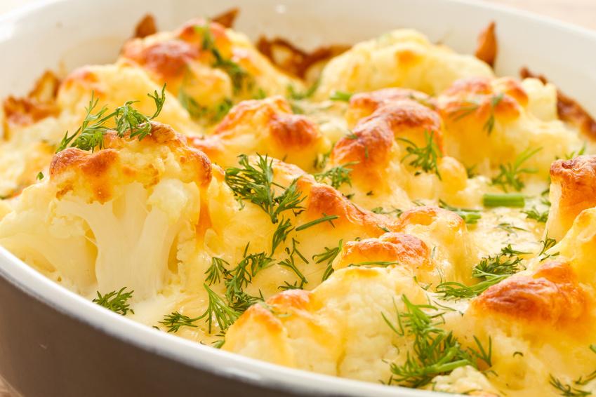Auflauf vegetarisch Käse und Blumenkohl