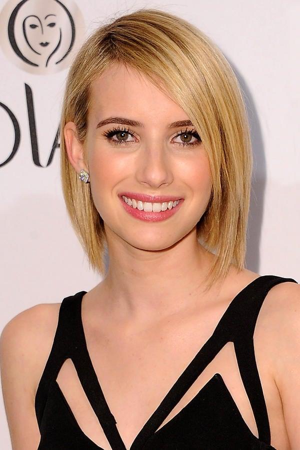 Bob-Frisur Emma Roberts glatte Haare