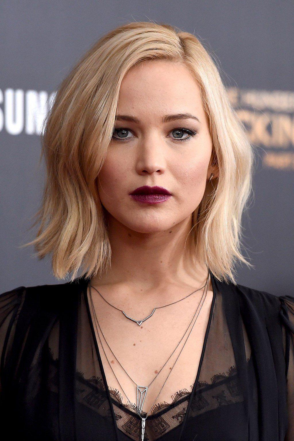 Bob-Frisur leicht wellig Jennifer Lawrence