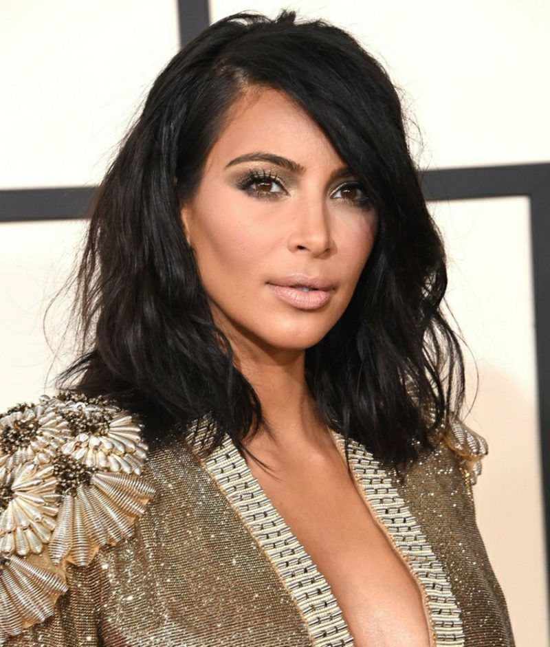 LOng Bob Kim Kardashian