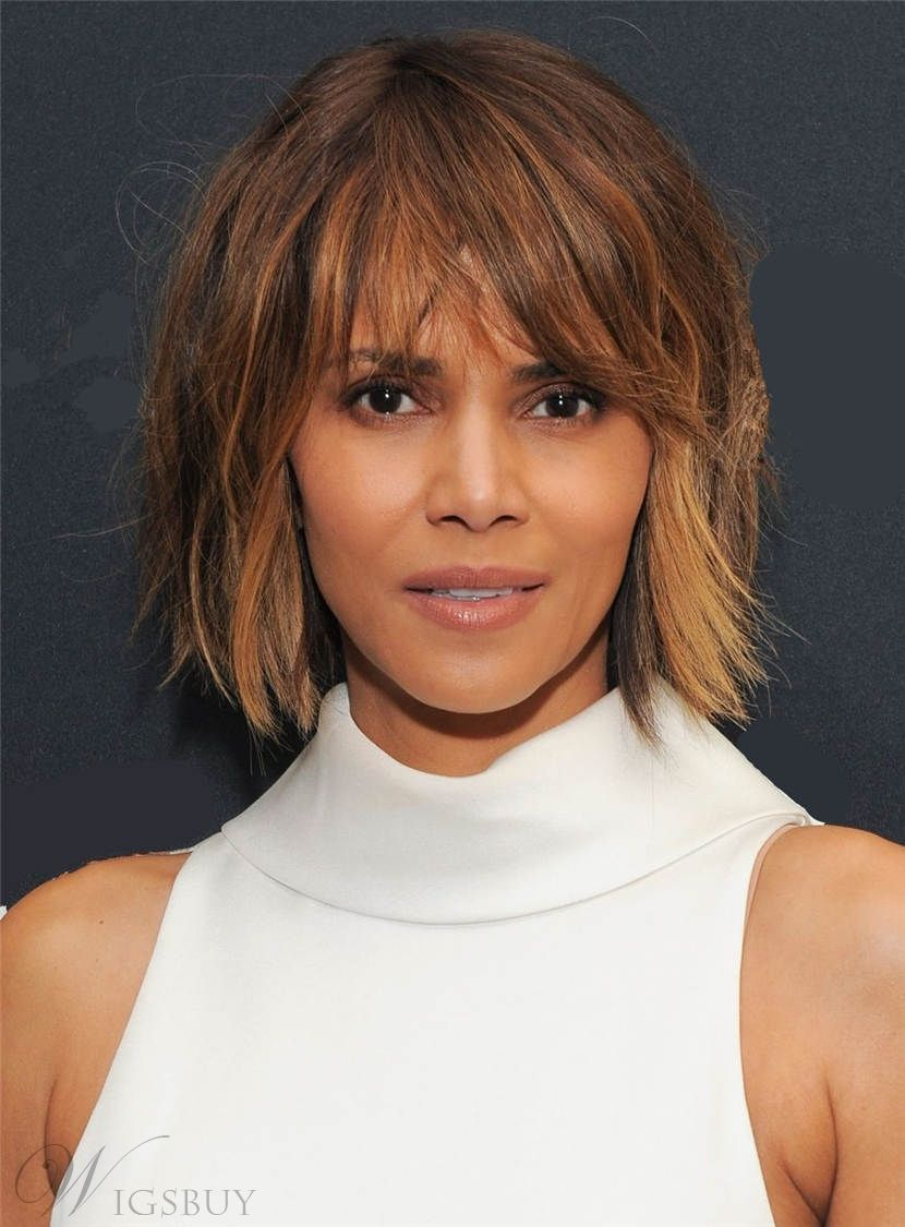 moderne Damenfrisuren messy Look Halle Berry