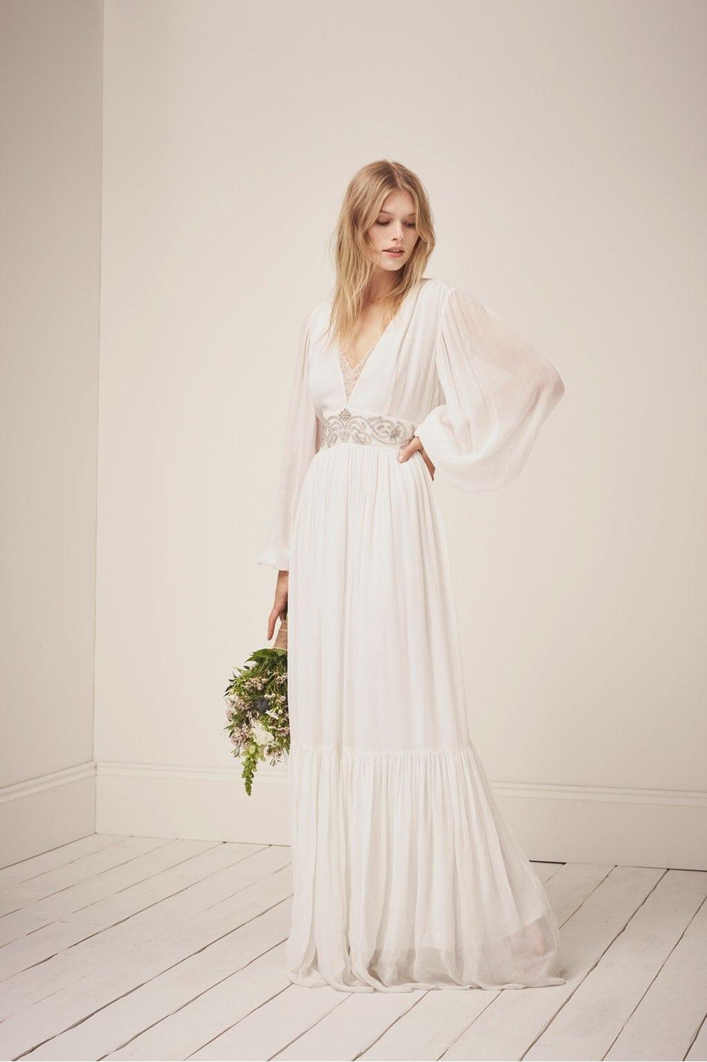 lässige Brautkleider romantischer Look
