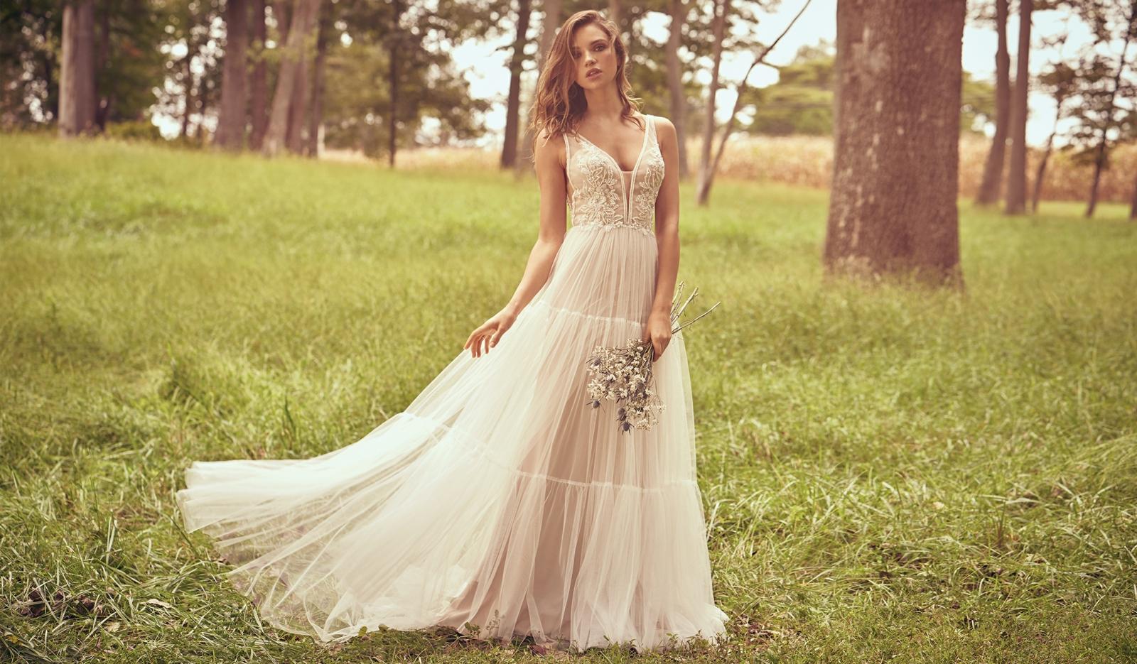 lässige Brautkleider super romentischer Look