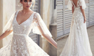 lässige Brautkleider breit Spitze wirklich stilvoll